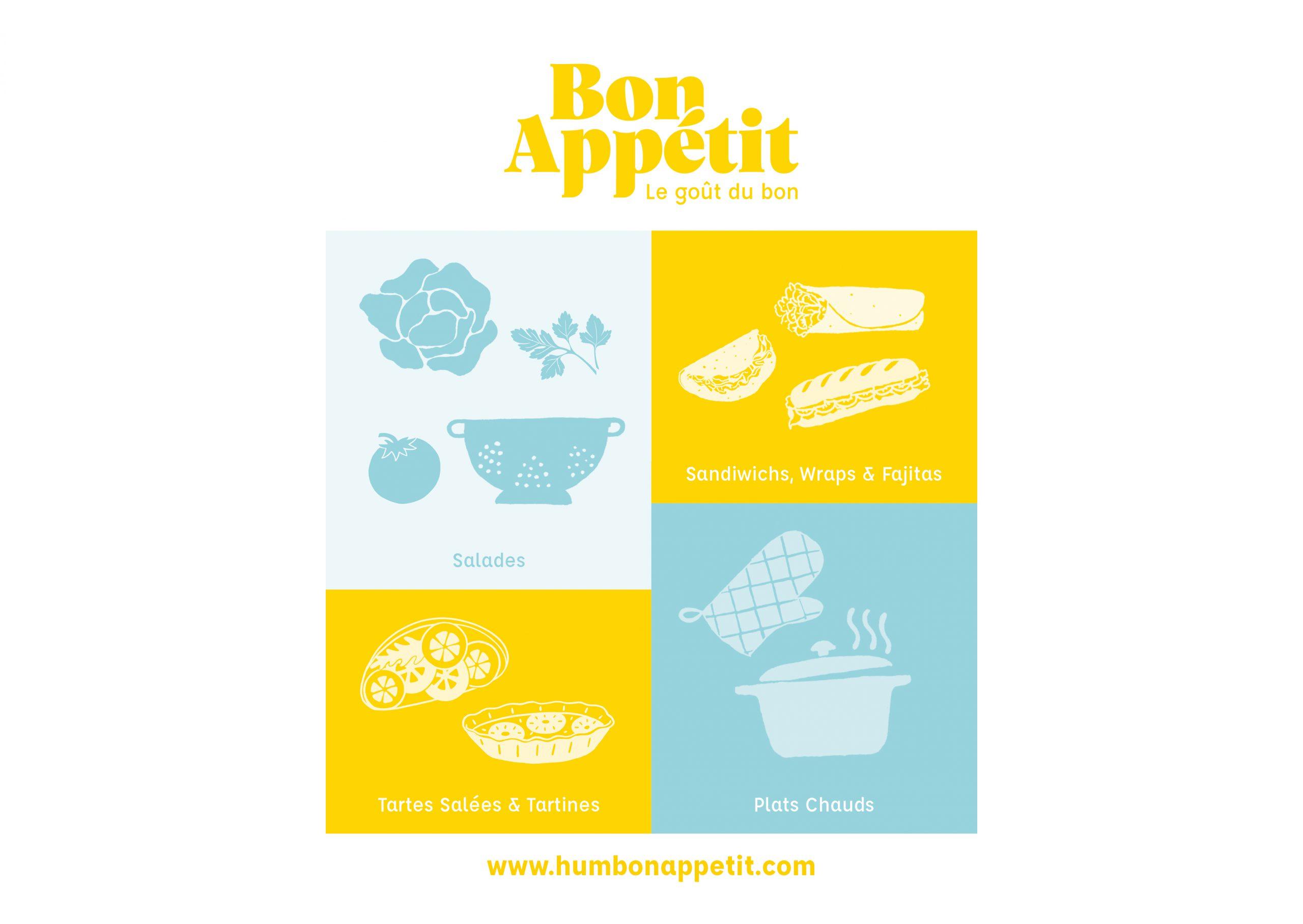 Menu restaurant Bon Appétit
